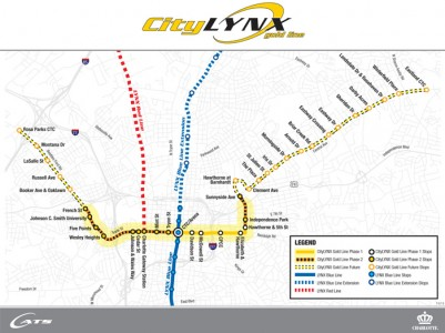 CityLYNX Gold Line Project Map